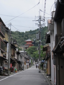 Walked through a street to get to Kiyomizudera. This is the more neighbourhoodly side of the famous temple.